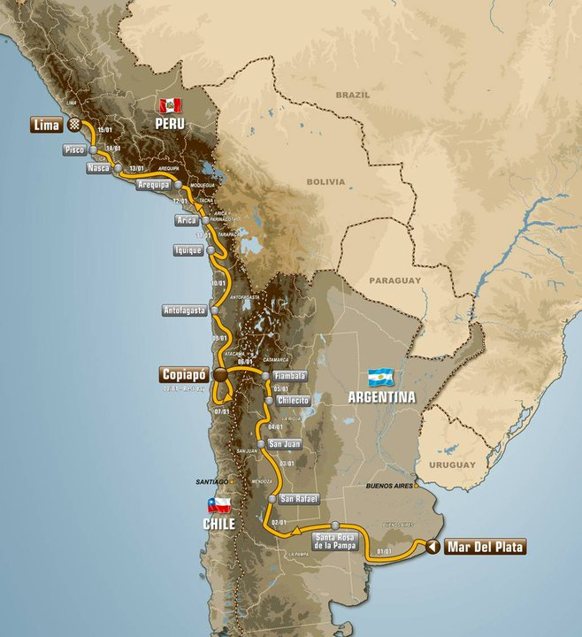 Dakar Rally Has a New Route in 2012 Now Ends in Peru