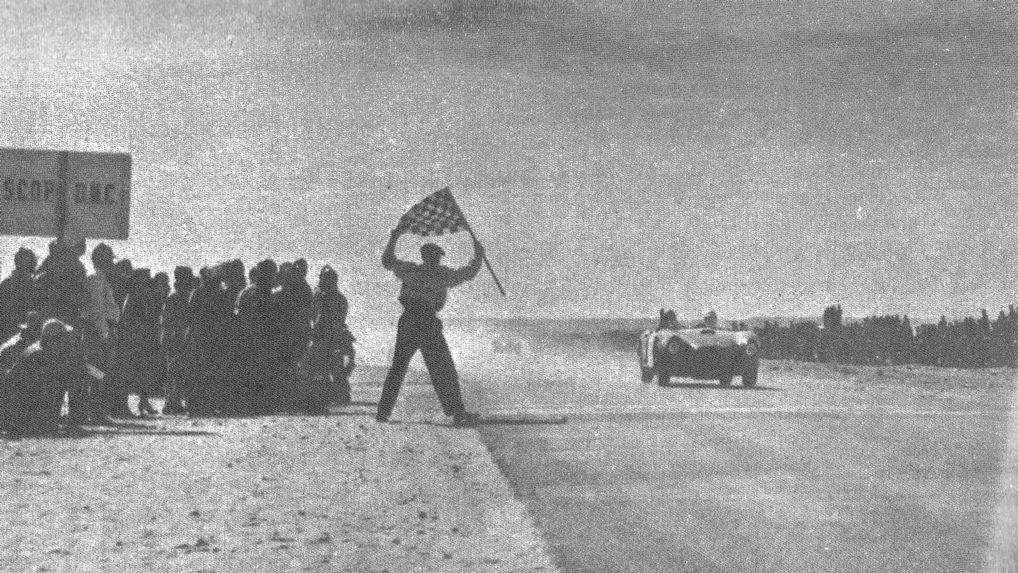 Fangio Takes the Checkered Flag at the 1953 La Carrera Panamericana