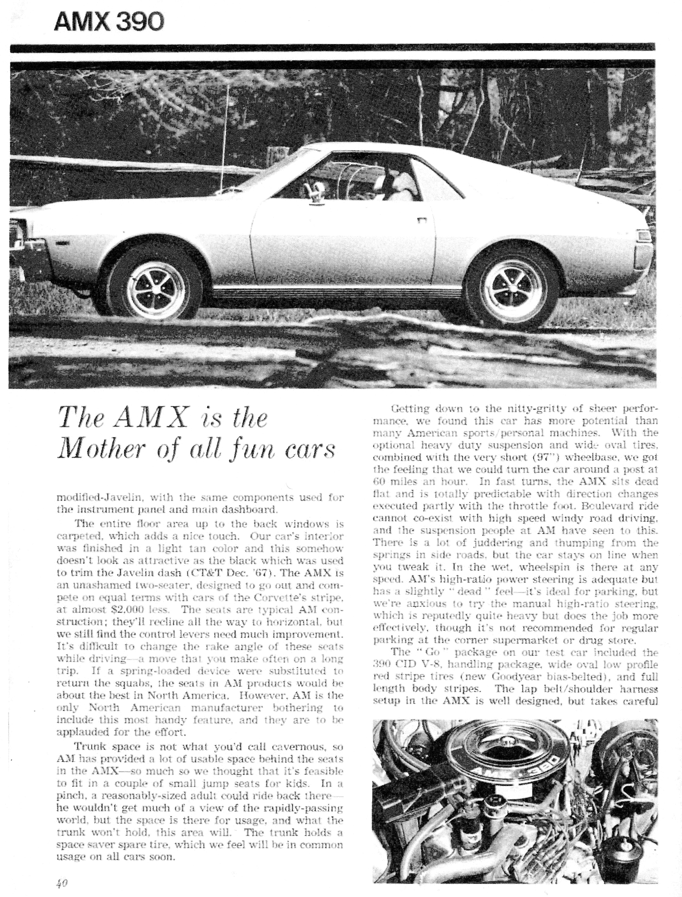 The American Motors AMX: The Two-Seat Muscle Car |