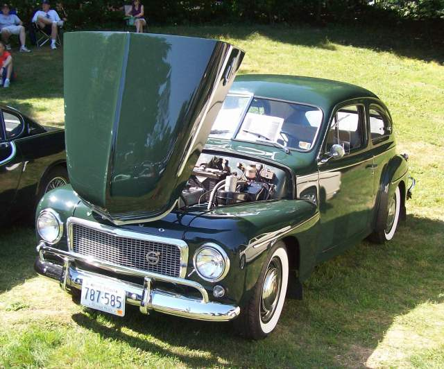 Volvo PV444 Green Sedan