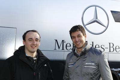 Kubica and Toto Wolff
