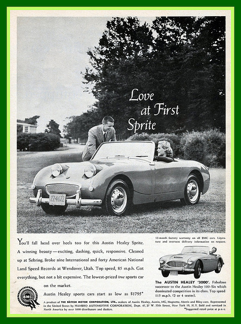 Austin Healey Sprite Advertisement