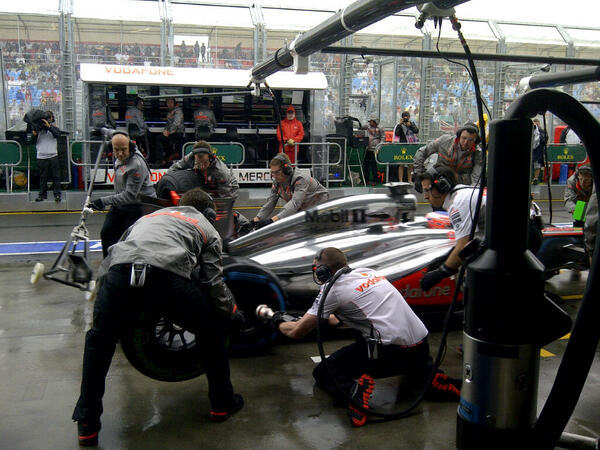 Button Changing Tires During Q1