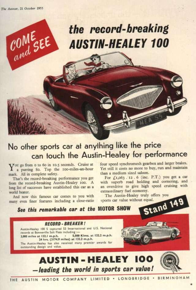 Austin Healey 100 Ad Autocar