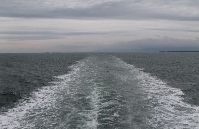 Sun AM Ferry Wake