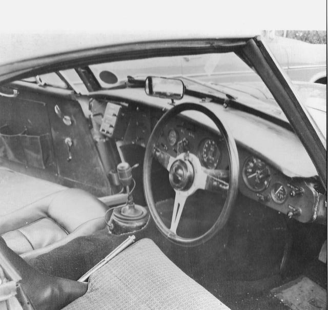 Big Healey Rally Interior