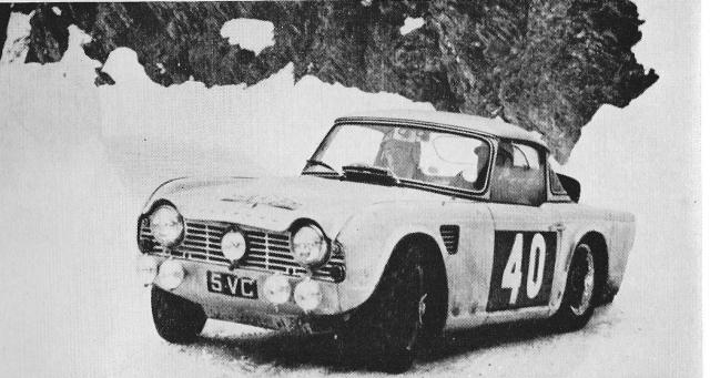 Triumph TR4 Winter Rally