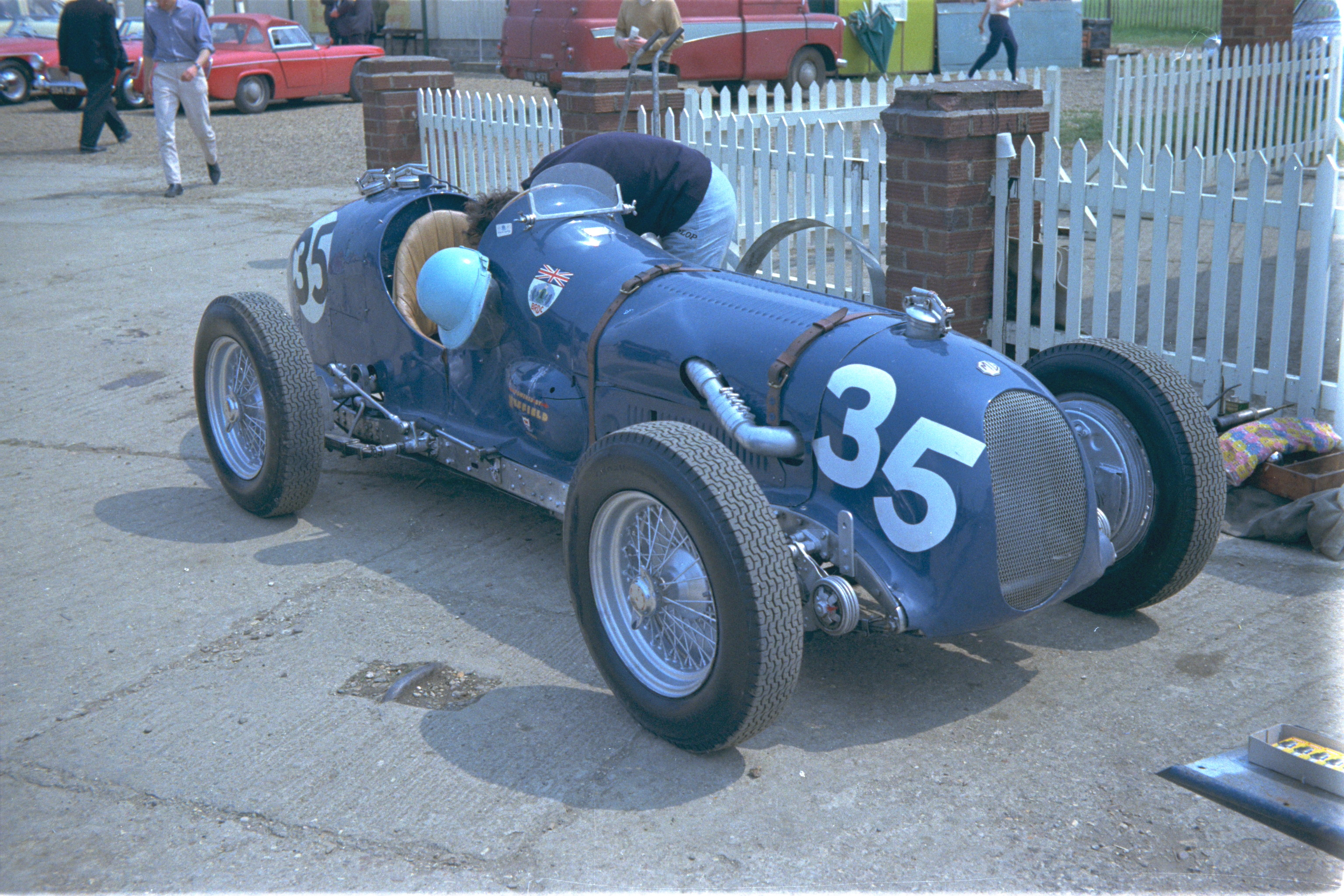 Pre-War MGs at Silverstone From 50 Years Ago |