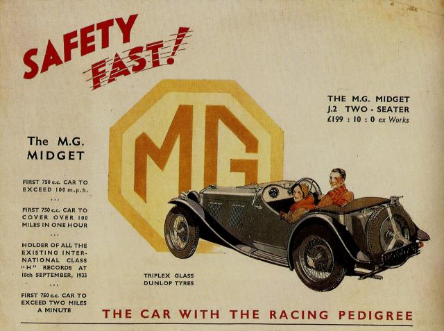 MG J2 Advertisement
