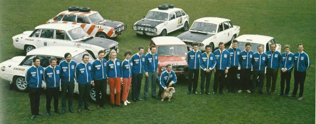 World Cup Rally British Leyland Team
