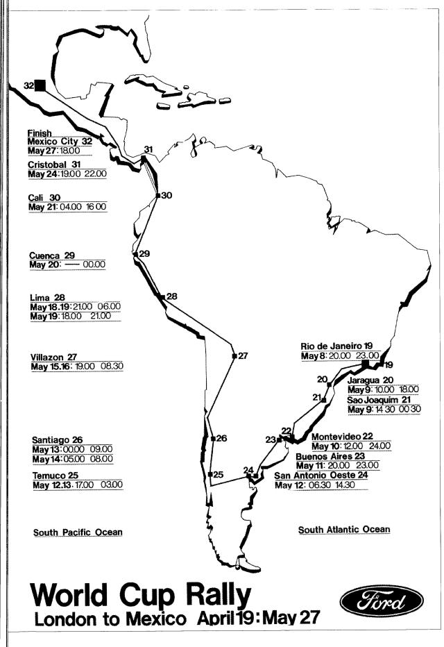 World Cup South American Route