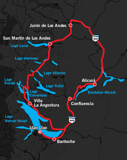 1000 Millas Day 1 Route Map 2014