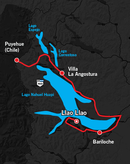 1000 Millas Day 2 Route Map 2014