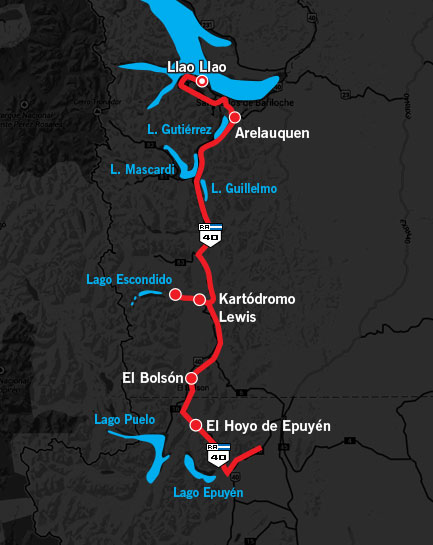 1000 Millas Day 3 Route Map 2014