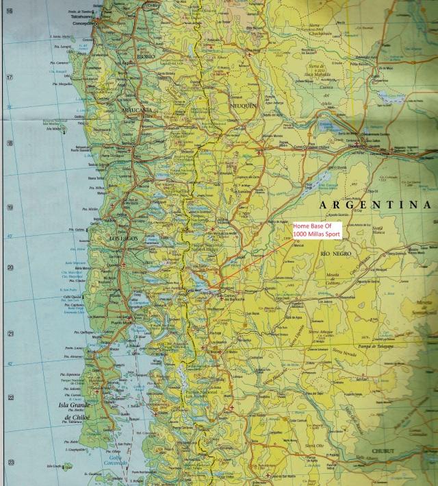 1000 Millas Sport Area Map