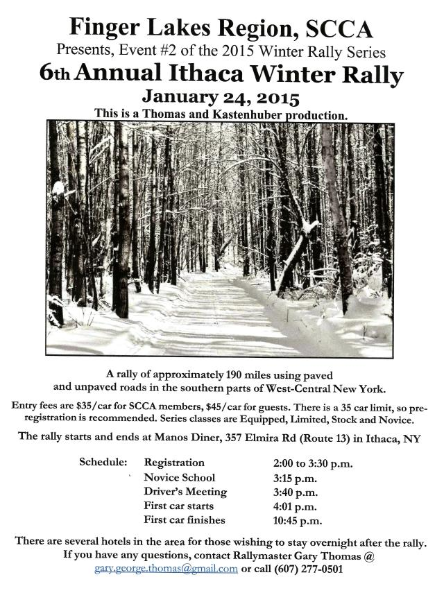Ithaca Winter Rally Flyer 2015