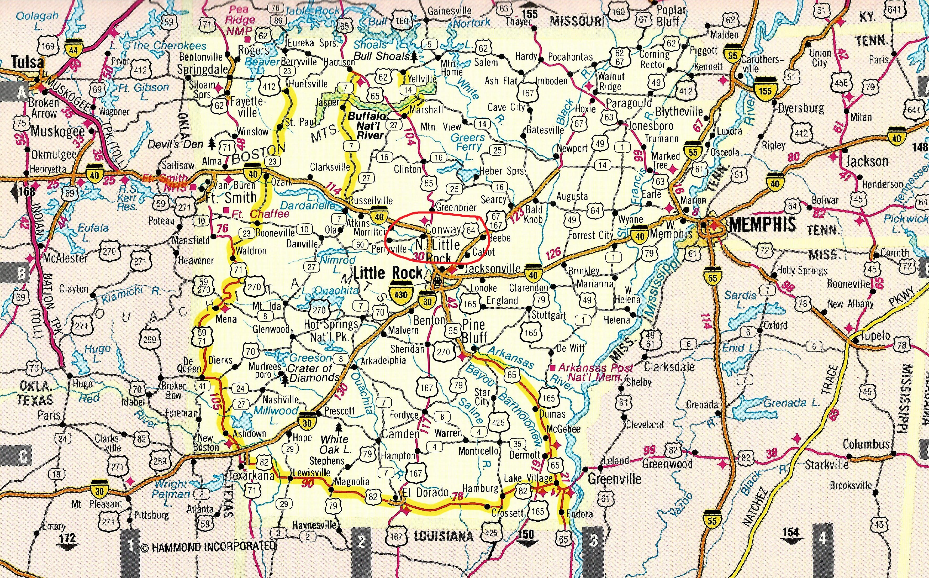 map of conway arkansas New American 1000 Mile Long Rally Announced For 2015 map of conway arkansas