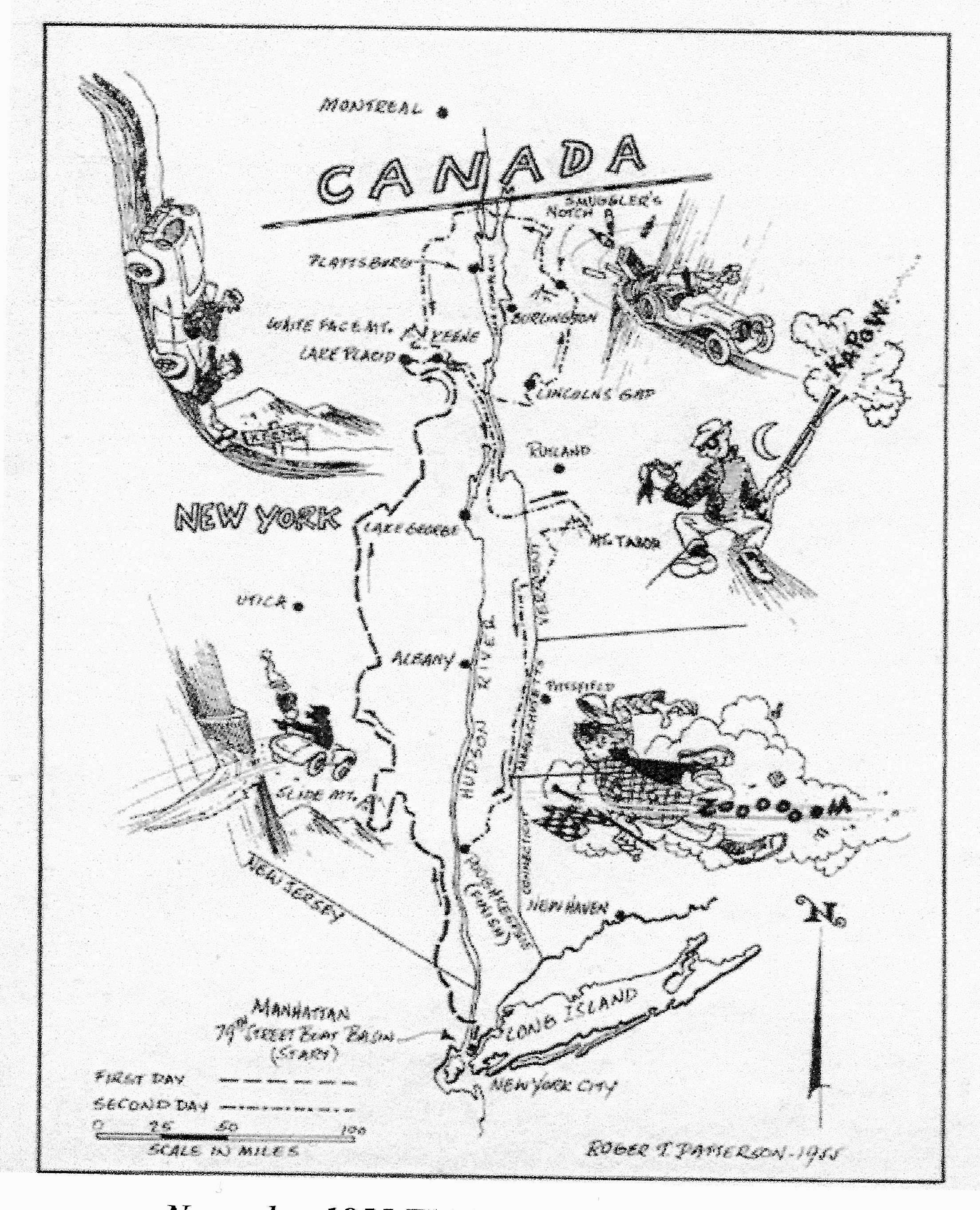 great american mountain rally a major american rally of the 1950s Fiat Coupe 1950 1955 gamr route map