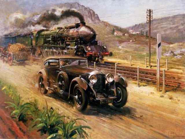Image result for the bentley and the blue train