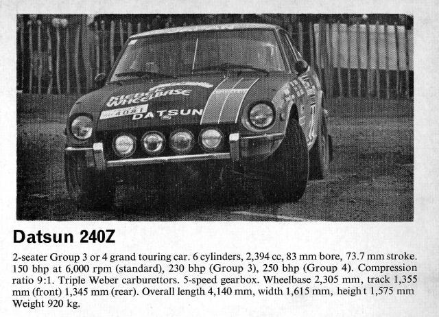 Datsun 240Z Rally Car