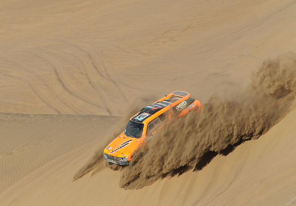 Robby Gordon on the sand Dunes