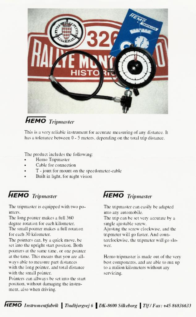 Hemo Trip Taeller Instructions