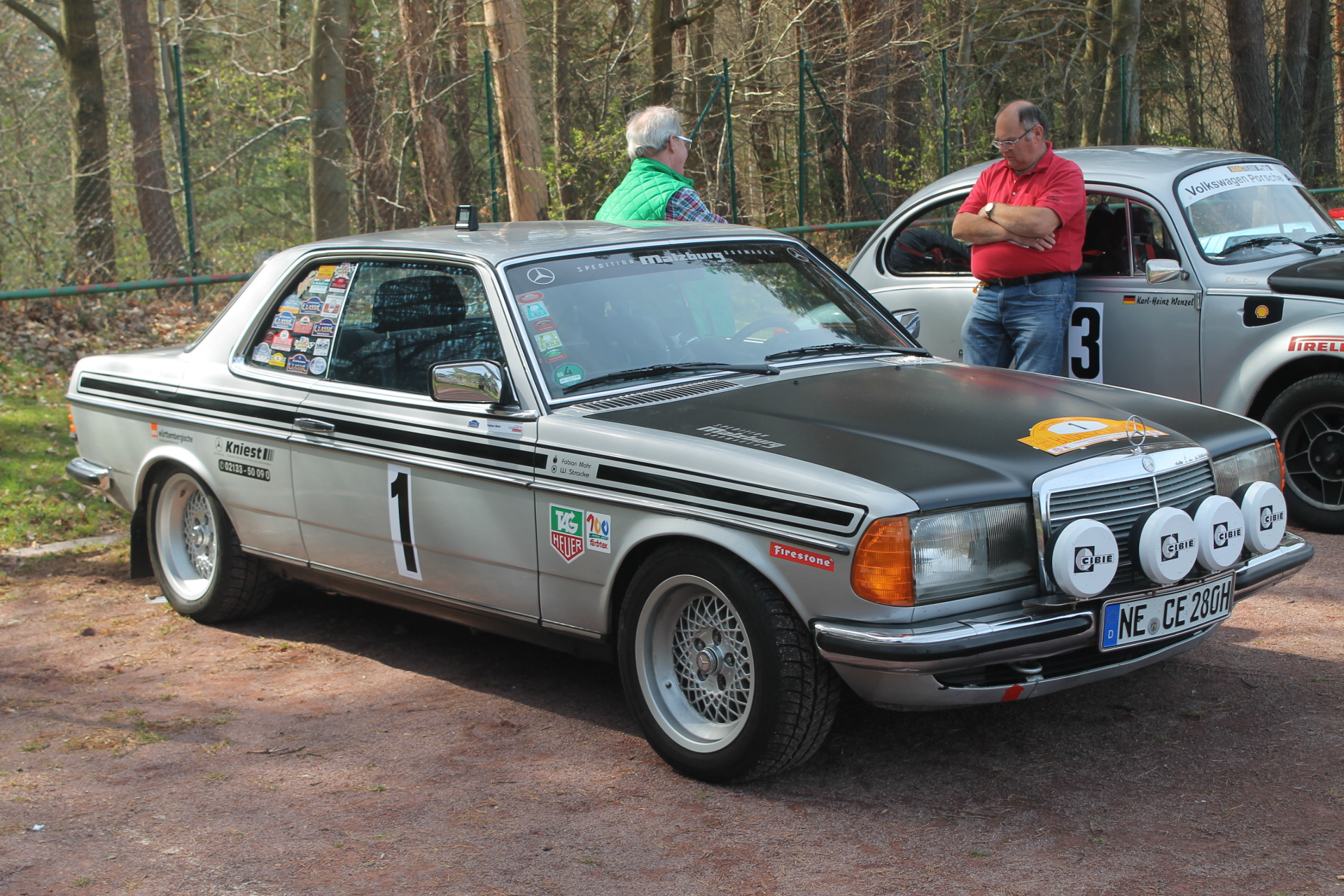 Our baden classic teammates share victory for Rally mercedes benz