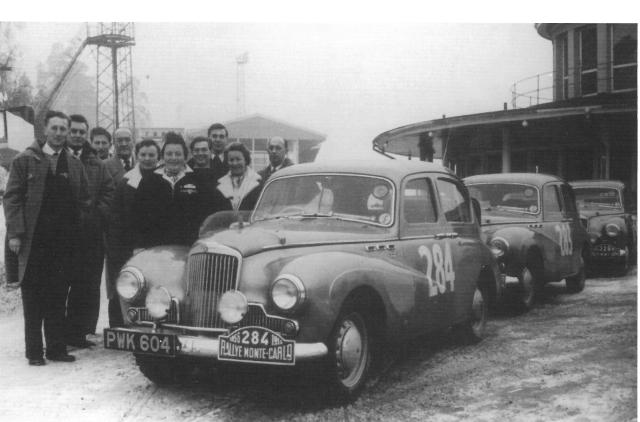 Sunbeam Team Monte 1956