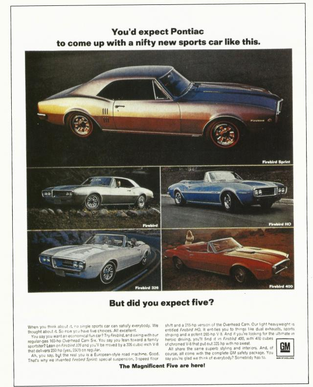 Firebird 1967 Advertisement