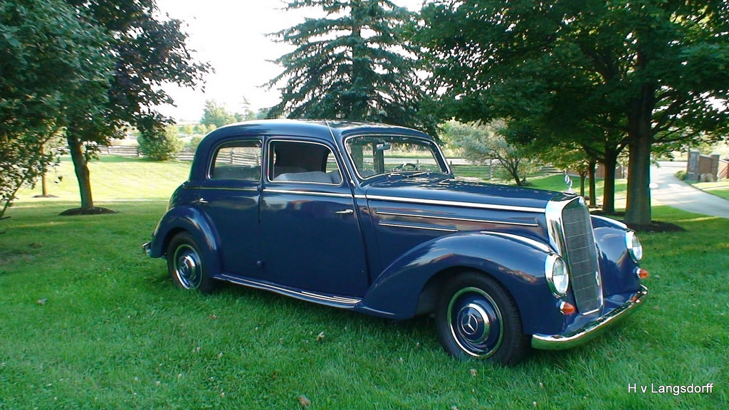 Harald von langsdorff is selling his 1951 mercedes benz 220b for Mercedes benz private sellers