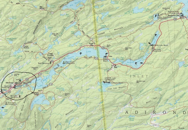 Old Forge New York Area Map R1