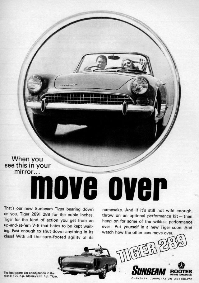 Sunbeam Tiger 289 Ad June 1967