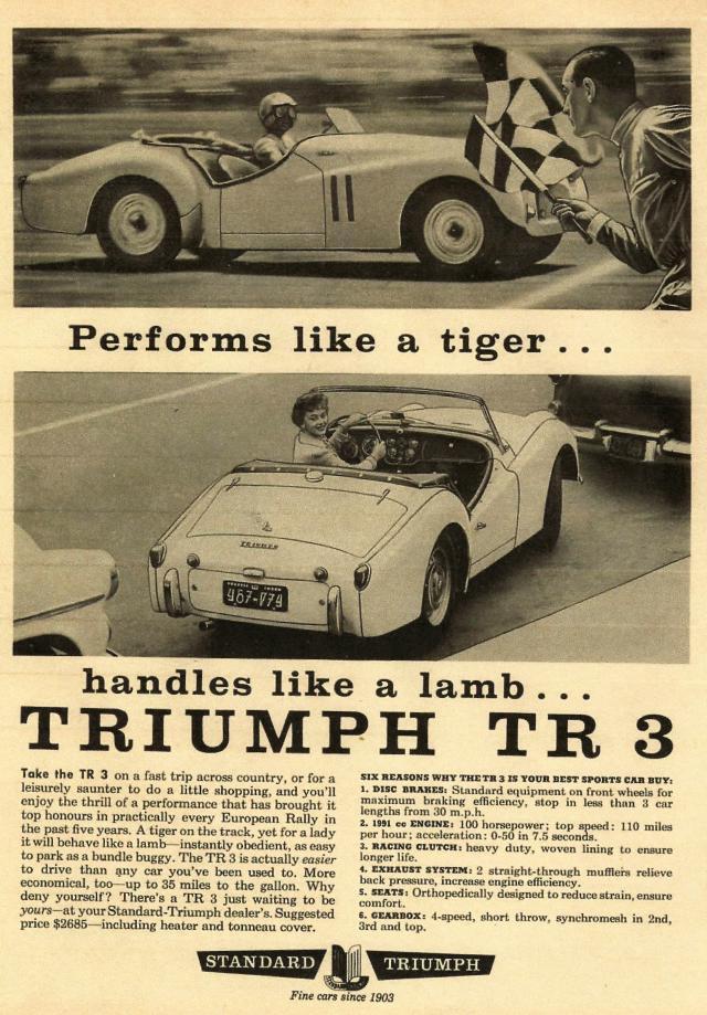 Triumph TR3 Ad 1959