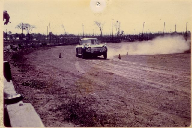 Bill Bailey's Dark Blue 3VC in 1964 autocross