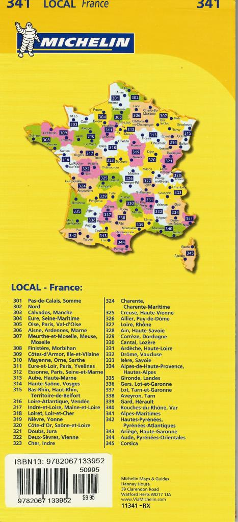 Michelin Maps Index France