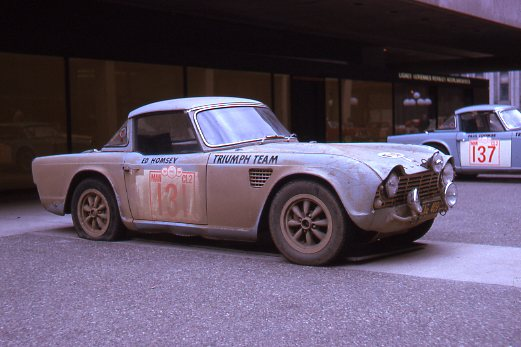 Triumph Shell 4000 finish Montreal 1964