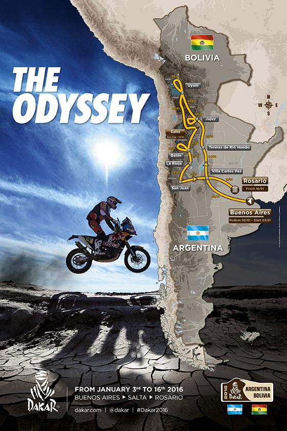 Dakar Route 2016 Revised