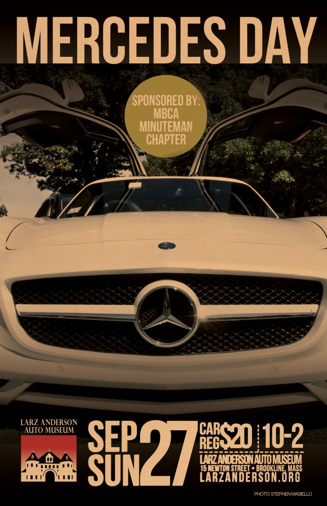 2015 mercedes benz day at larz anderson museum for Mercedes benz poster