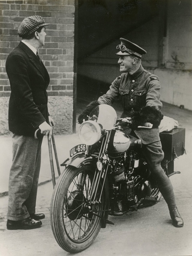 Lawrence Arabia Gets New Brough Bike (2)