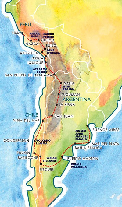 Rally Of The Incas Route Map