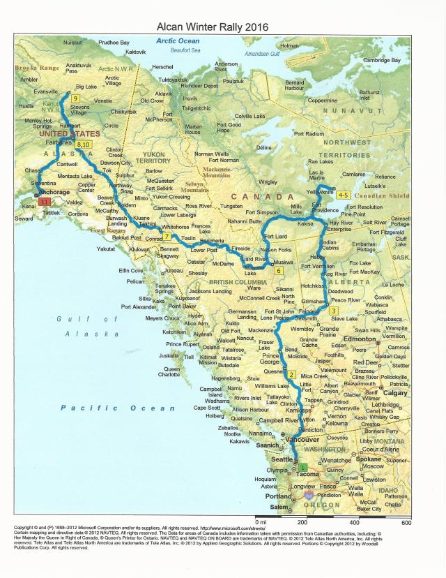 Alcan 5000 Map 2016