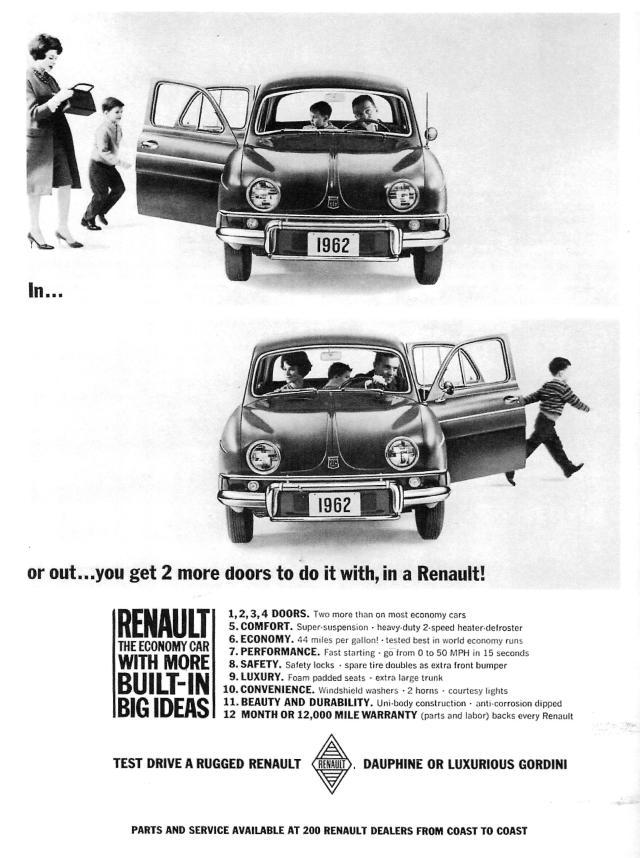 Renault Dauphine Ad 1962