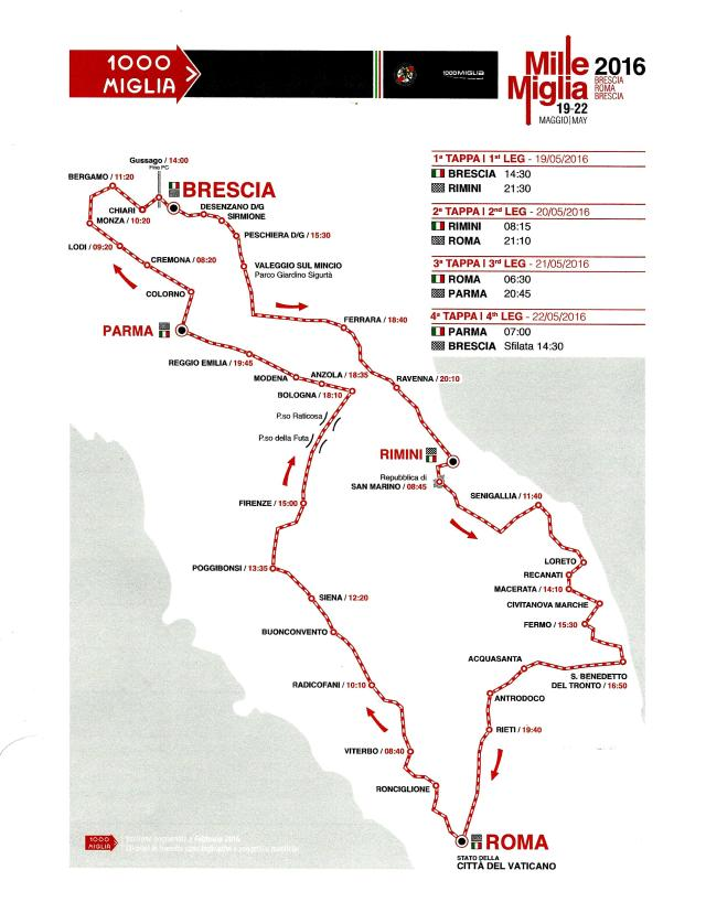 2016 Route Map