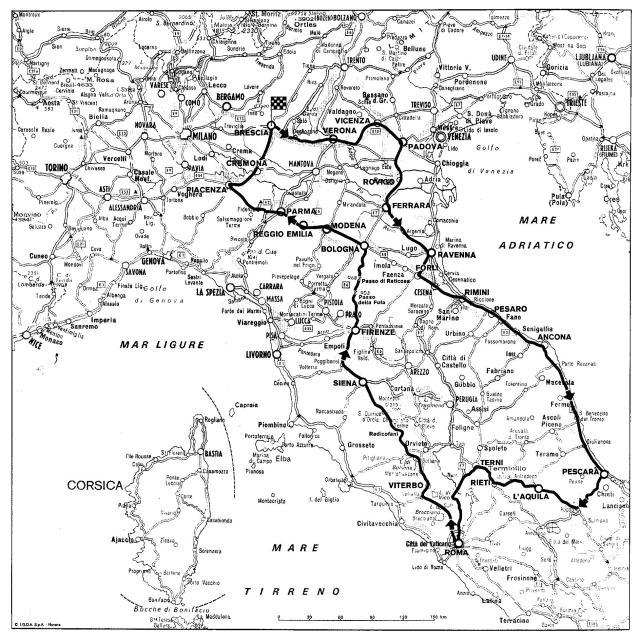 1951 Mille Miglia Route