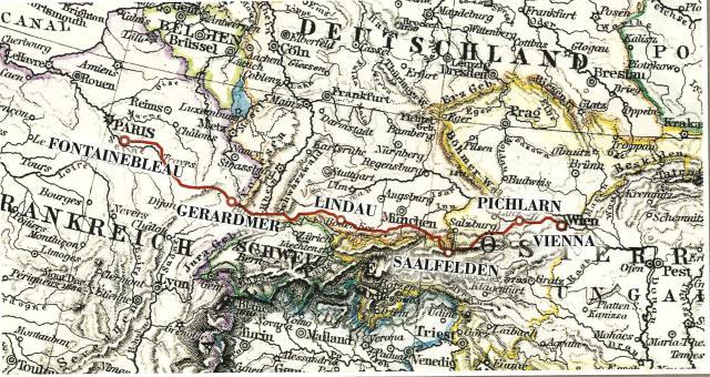 Paris Vienna 2016 Route
