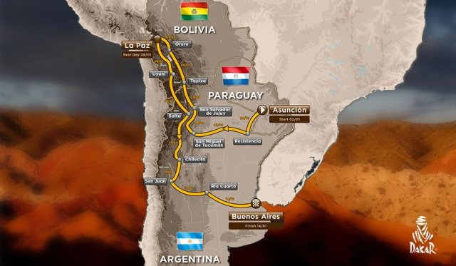 Dakar 2017 Route