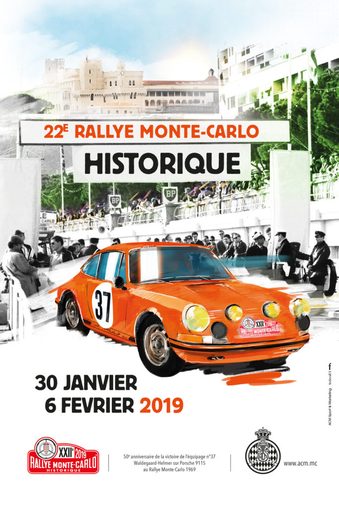 2019 rallye monte carlo historique poster. Black Bedroom Furniture Sets. Home Design Ideas