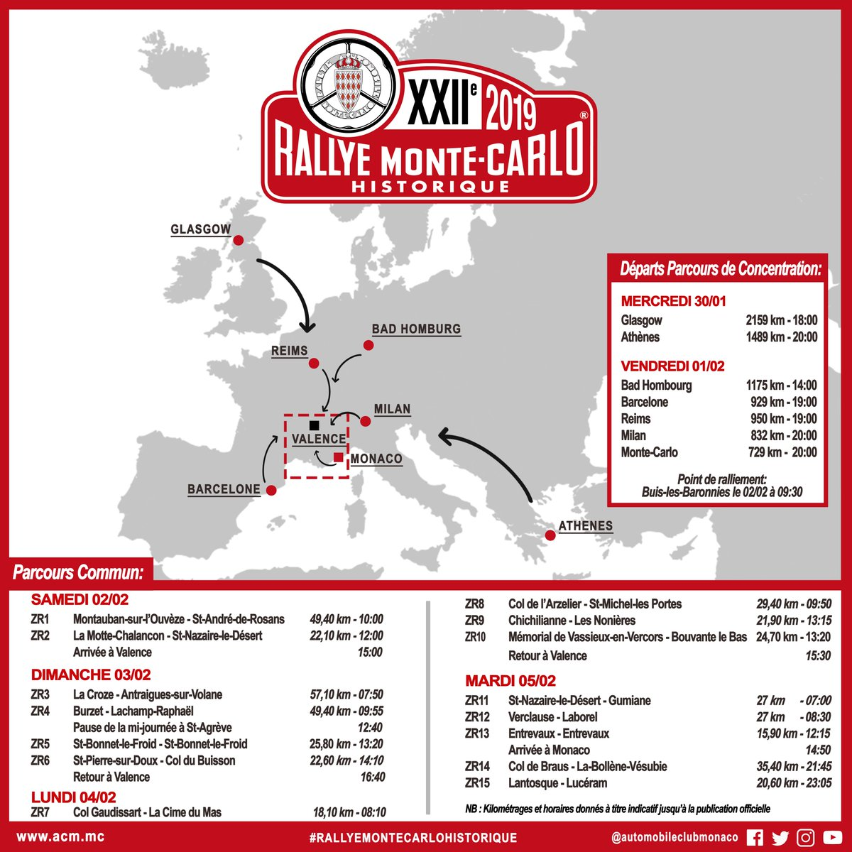 initial announcement about the 2019 rallye monte carlo historique. Black Bedroom Furniture Sets. Home Design Ideas